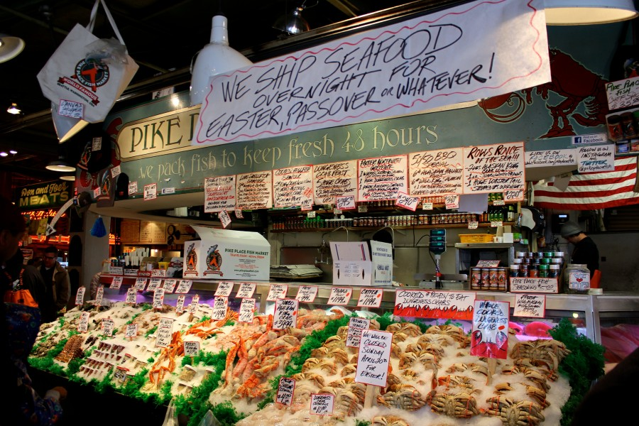 5 highlights of pike place market in seattle washington for Fish market seattle